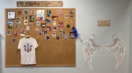 """The """"Loving Angels"""" wall at Gavin's Treasures."""