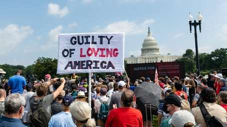 """The """"Justice for J6"""" rally near the Capitol"""