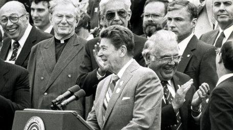 President Ronald Reagan granted amnesty to 4 million