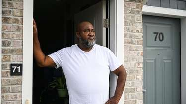Lorne Simon, outside his apartment at Liberty Station