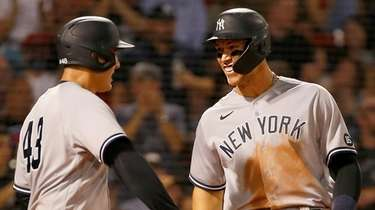 Aaron Judge of the Yankees and teammate Anthony