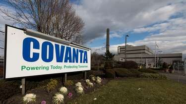 The Covanta waste-to-energy facility in Westbury is pictured