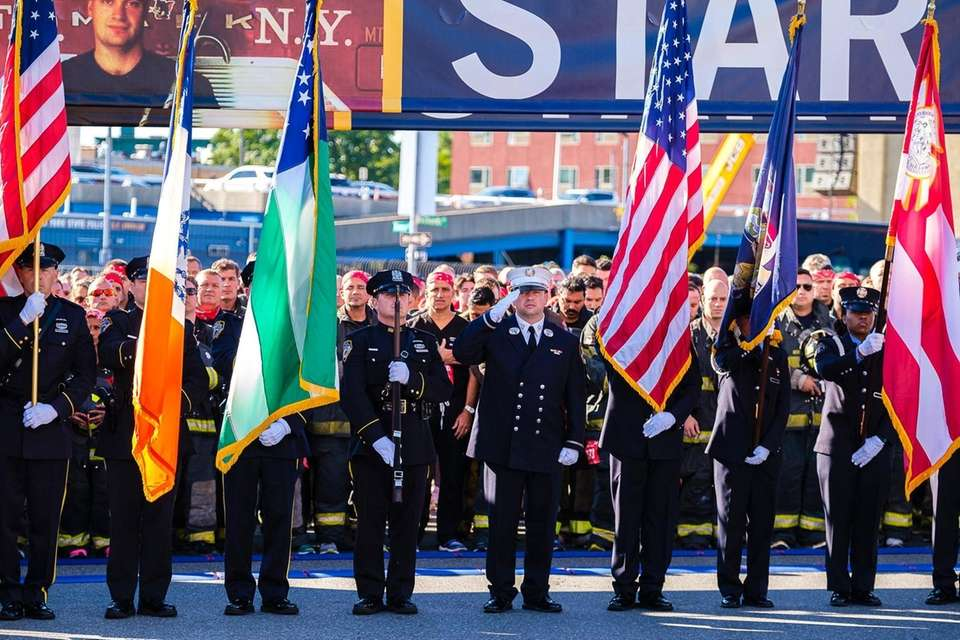 The colorguard at the 20th Annual Tunnel to