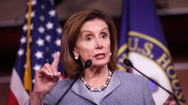 House Speaker Nancy Pelosi at a news conference