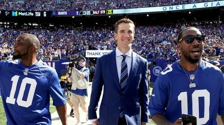 Eli Manning of the New York Giants on