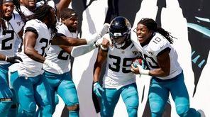 Jamal Agnew #39 of the Jacksonville Jaguars celebrates