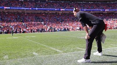 Jets head coach Robert Saleh against the Denver