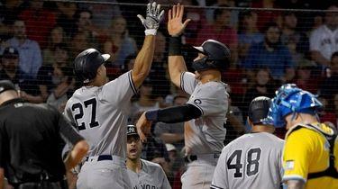 New York Yankees designated hitter Giancarlo Stanton (27)