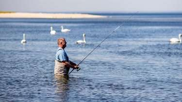 Dave Winthrop of Dix Hills goes fishing with