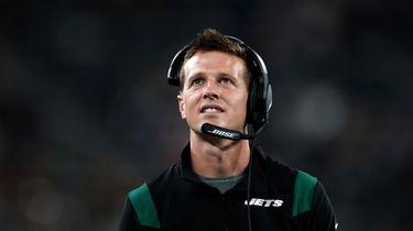 New York Jets offensive coordinator Mike Lafleur against