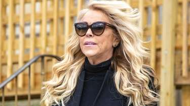 Dina Lohan appears at the Nassau County Courthouse