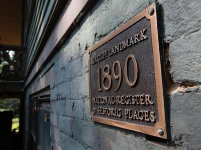 The landmark designation at a home in Sea