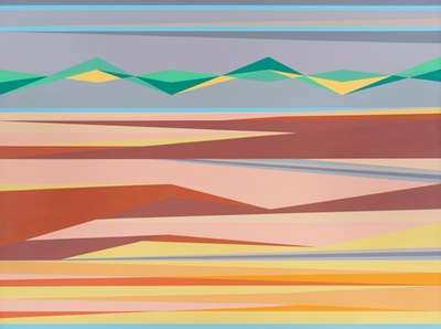 Odili Donald Odita (American, born Nigeria, 1966) Horizon,