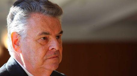 Rep. Peter King speaks at Hofstra University in