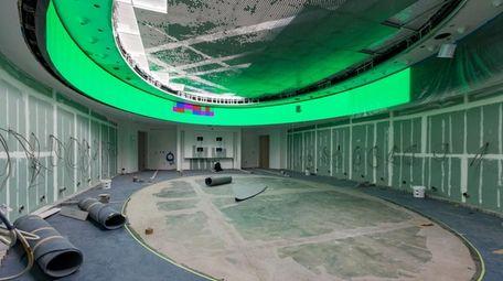 The Islanders locker room at UBS Arena at