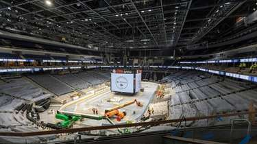 UBS Arena at Belmont now has ice installed.