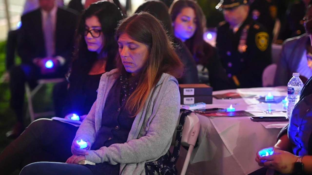 A memorial service for victims of human traffickingwas