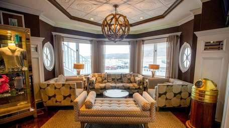 The lobby at Danfords Hotel, Marina and Spa