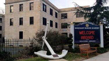 Exterior of the U.S. Merchant Marine Academy in