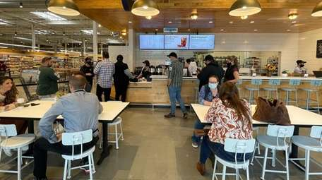 There's a full-service coffee bar at Massapequa's new