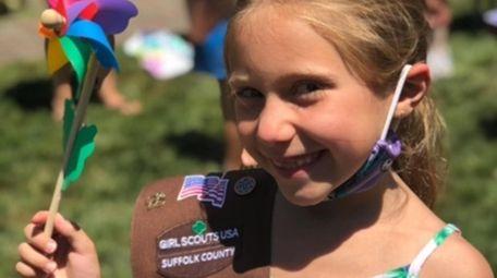 Layla Chudyk, 7, of Rocky Point, designed a