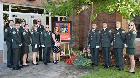 Members of Bellport's South Country Ambulance gathered to