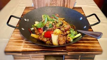 Spicy dry-pot lamb is one of the Sichuan