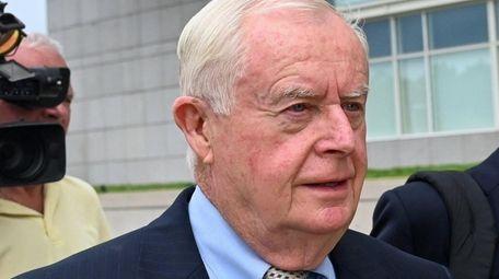 Former Suffolk District Attorney Thomas Spota outside federal