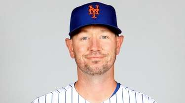 Mets pitching coach Jeremy Hefner during Photo Day