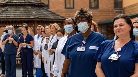Doctors, nurses, and staff of Catholic Health's Mercy