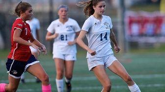 Rocky Point midfielder Alexandra Kelly dribbles the ball