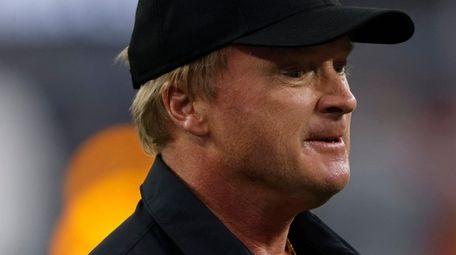 Las Vegas Raiders head coach Jon Gruden looks