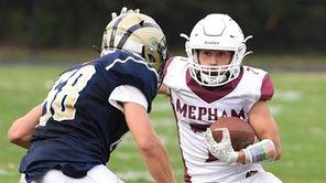 Mepham wide receiver Dylan Dunn gains yardage against