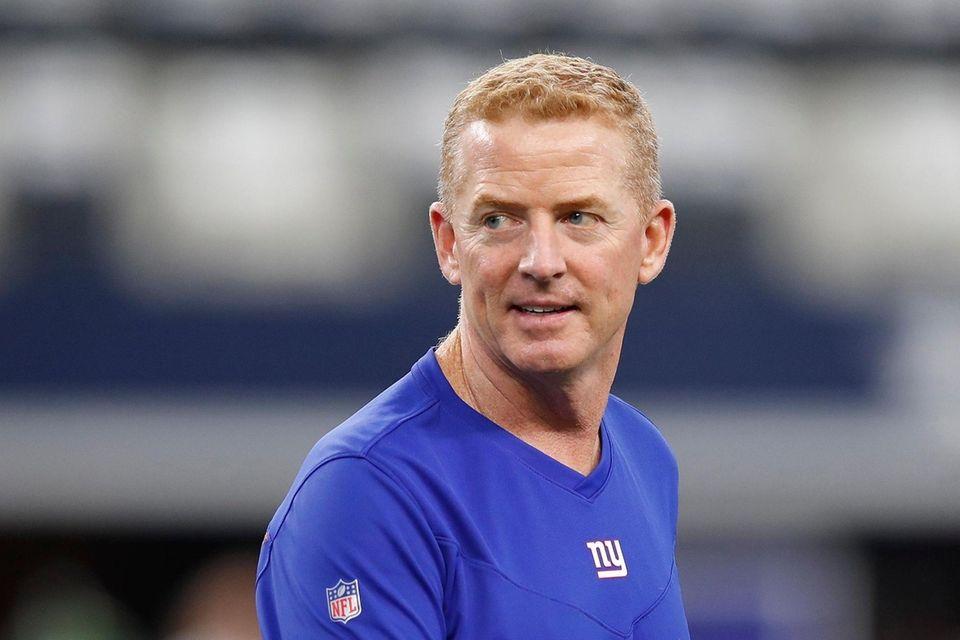 Offensive Coordinator Jason Garrett of the New York