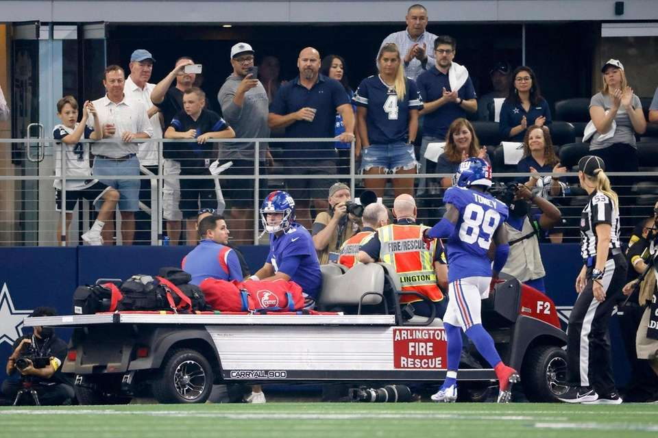 Fans look on as New York Giants wide