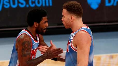 Kyrie Irving and Blake Griffin of the Nets