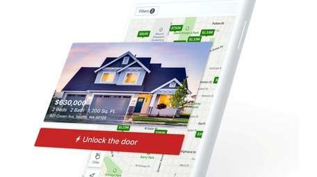 Prospective buyers can let themselves in to tour