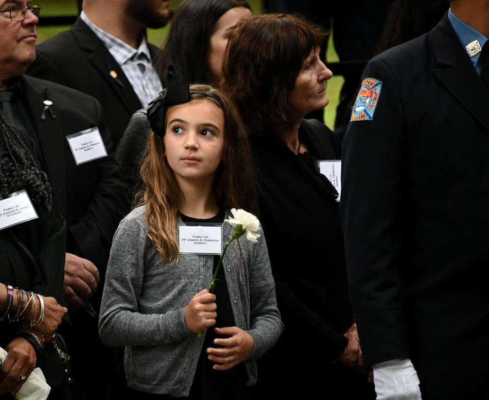 Valentina Ferrugia, 8 of Floral Park, surrounded by