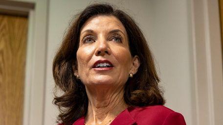 New York State Gov. Kathy Hochul speaks at