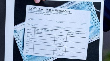 A legit COVID-19 vaccine card. New York State
