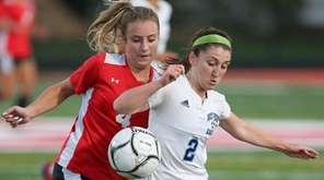 Rocky Point's Lilly Rescinti (2) and East Islip's