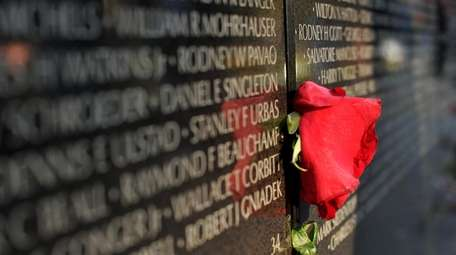 The Vietnam Veterans Memorial Moving Wall is a