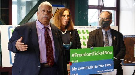 Officials including Democratic Queens State. Sen. Leroy Comrie,