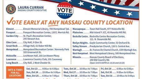 A mass mailer sent Sept. 29 by Nassau