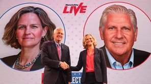 Laura Curran and Bruce Blakeman, candidates for Nassau