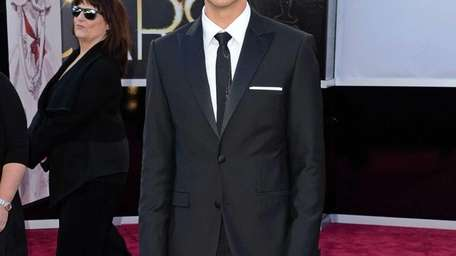Aaron Tveit arrives at the Oscars at Hollywood