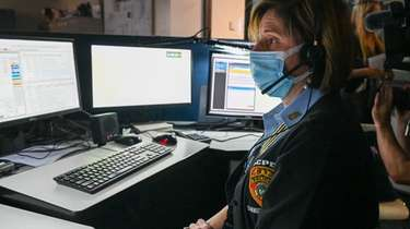 A 911 operator at the Suffolk County Poilice