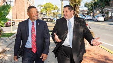 Jorge Rosario, left, Babylon's attorney to the Rental