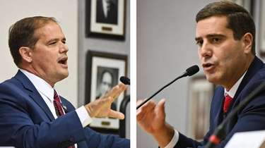Republican Ray Tierney, left, and Democrat Tim Sini,