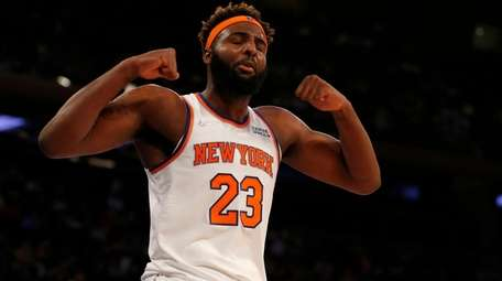 Mitchell Robinson back on the field for the Knicks' last game of the season